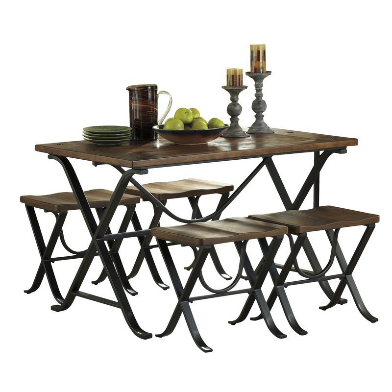 aguiar 5 piece dining set  48 inch round dining table set