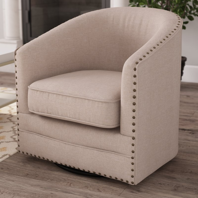 Macauley Swivel Barrel Chair - barrel swivel chair - 10 ...