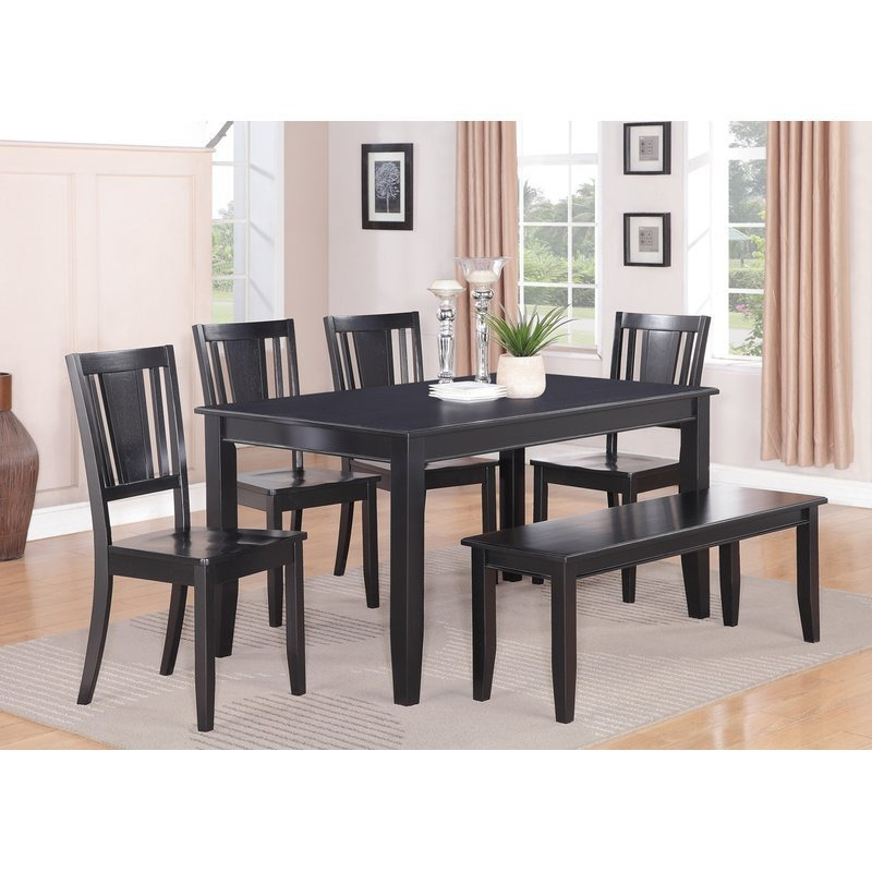 Parfait 6 Piece Solid Wood Dining Table - 54 inch round ...