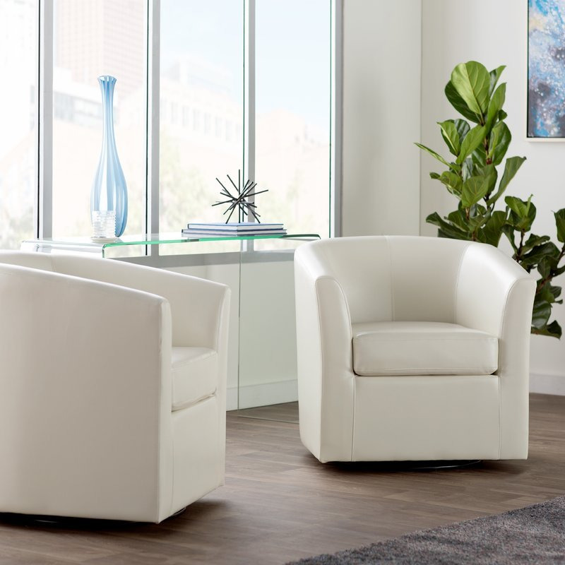 Wilmore Swivel Barrel Chair - small comfy chairs - 10 Best ...